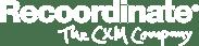 Recoordinate logo (W) + tagline (W)-2